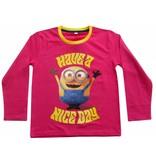 Minions Nice Day - Shirt girls lange mouw - 2 jaar