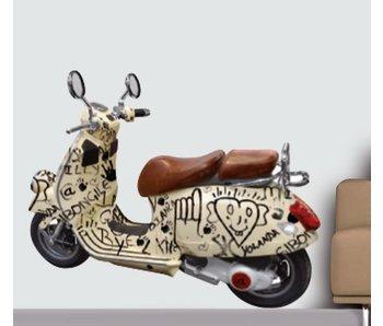 Italiaanse Scooter 70x50cm