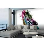 Patrice Murciano - Fotobehang Zebra - 366 x 253 cm - Multi