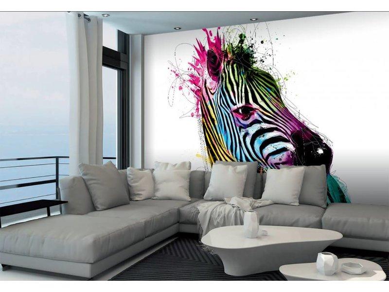 Patrice Murciano Fotobehang Zebra 366x253cm