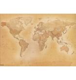 Fotobehang - Old World Map - 366 x 253 cm - Multi