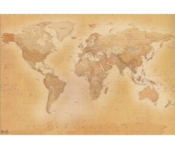 Fotobehang World Map old 366x253cm EXTRA LARGE