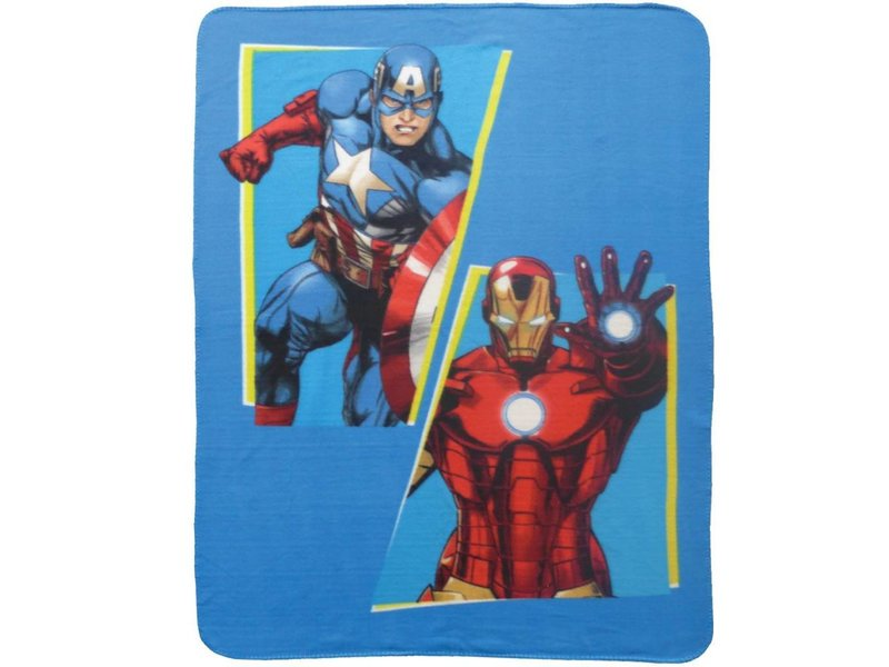 Marvel Avengers Invincible Fleece Plaid 110 X 140 Cm Blau
