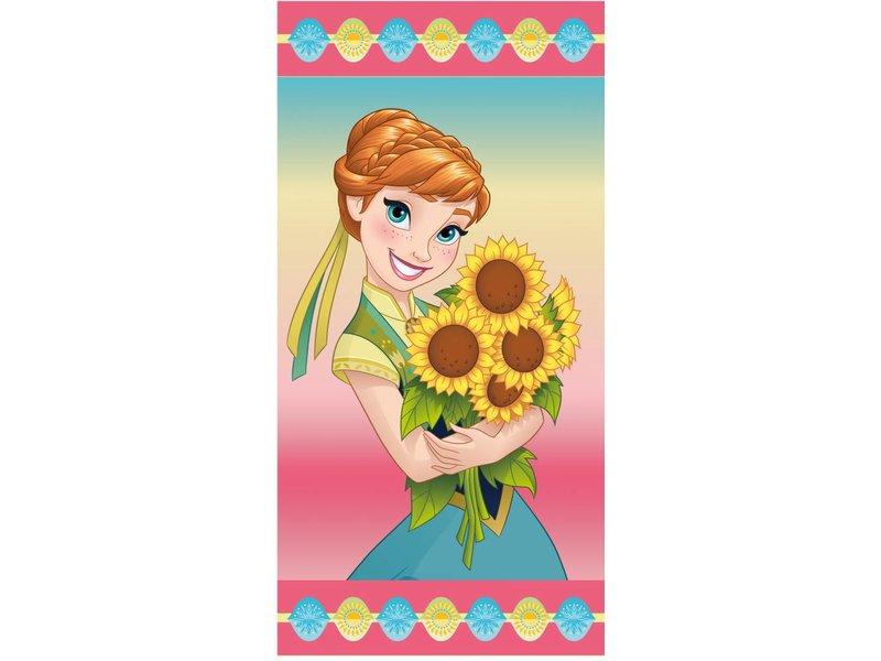 Disney Frozen Anna Sunflowers Strandtuch 70 X 140 Cm Multi