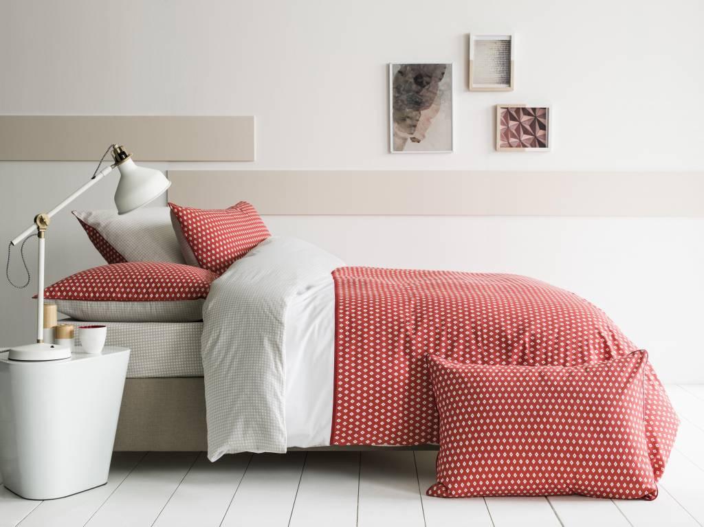 Matt /& Rose Esprit G/éom/étrique Housse de Couette Coton Brique//Gris//Blanc 200 X 140 cm