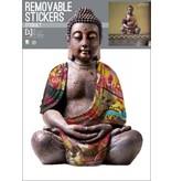 Buddha Reflective - Muursticker - 70 x 50 cm - Multi