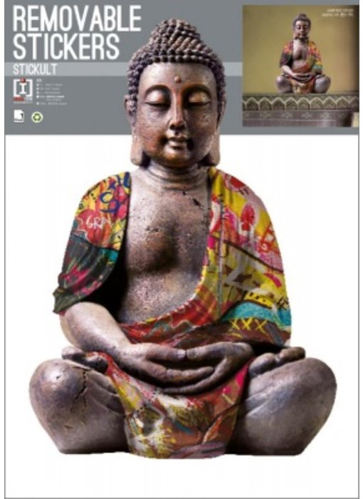 Buddha Muursticker Reflective 70x50cm