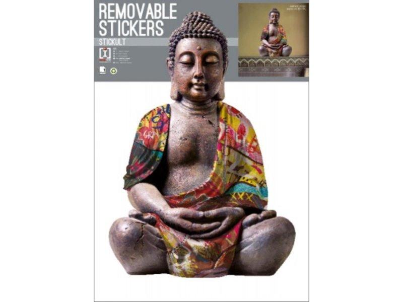 Buddha Reflective - Wall Decal - 70 x 50 cm - Multi