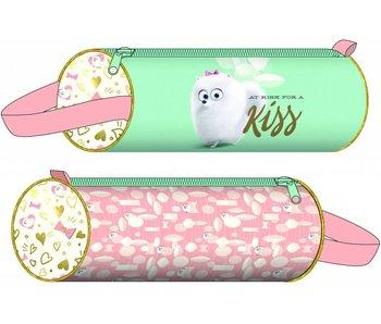Round Pencil Case Kiss 20x6cm