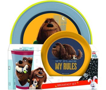 The Secret Life of Pets Breakfast Set 3 pieces