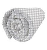 Matt & Rose Esprit géométrique - Fitted Sheet - Single - 90 x 200 cm - Gray