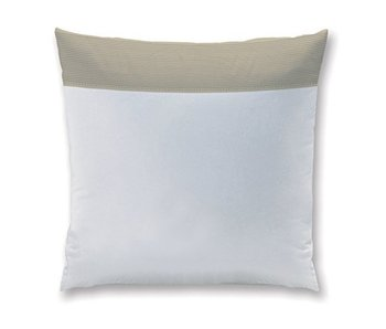 Matt & Rose Coussin Chaleureux Gouter Blanc / Taupe 65x65cm