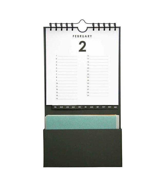Kalender met kaartjes - ICONS