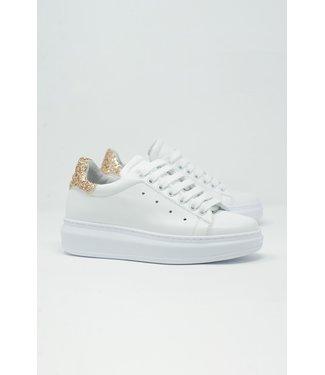 Q2 Chunky Sneaker Gouden Glitter