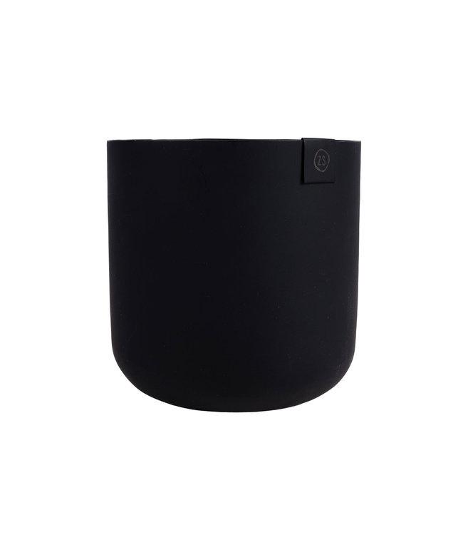 Zusss Potje Metaal - 13cm - ZWART