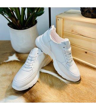 Zusss Gave Lederen Sneaker - WIT