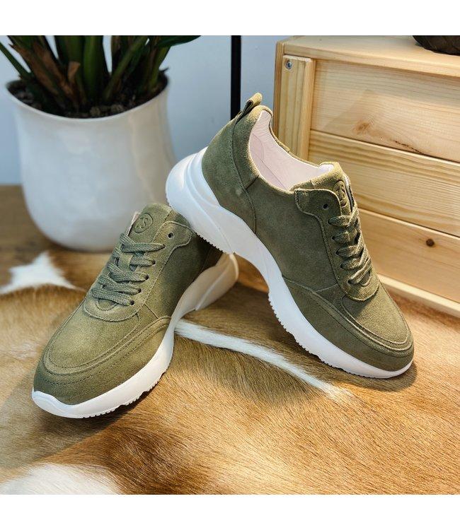 Zusss Gave Suede Sneaker - GROEN