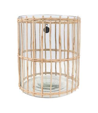 Zusss Windlicht Bamboe - L