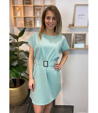 LaLaLou Munt basic kleedje met riem