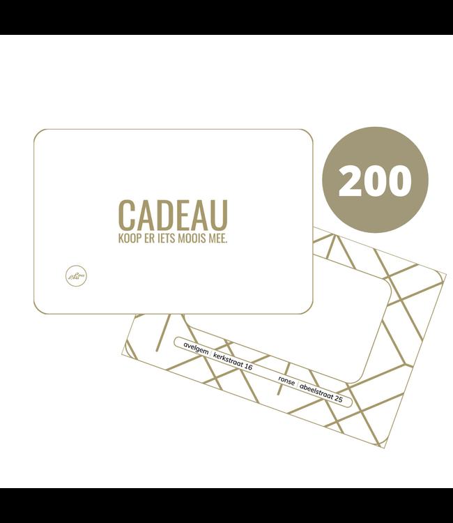 Papieren Cadeaubon 200 euro