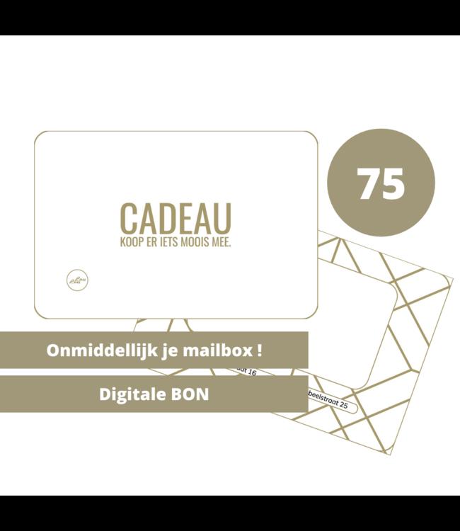 Digitale Cadeaubon 75 euro