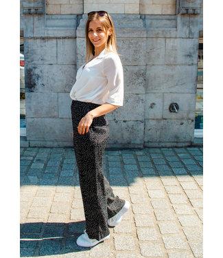 Yuka Wijde broek met bolletjes - PAULA - 20PE403
