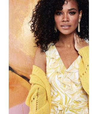 K Design Midi jurk mouwloos met vaste cache coeur & print - Q854
