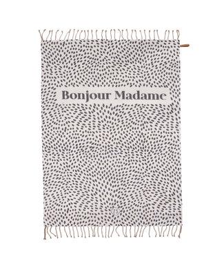 Zusss Zomerse plaid Bonjour Madame - 250x215cm