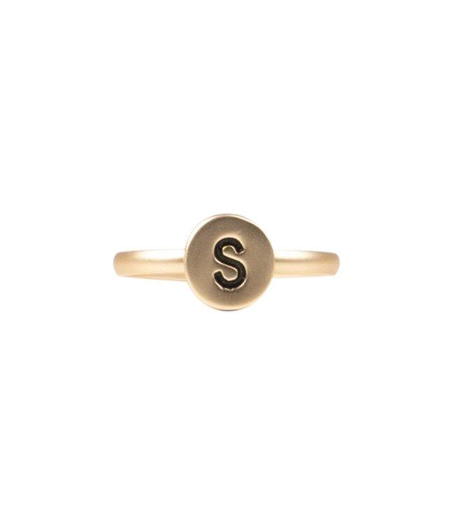 Initialen Ring - GOUD (A-Z)