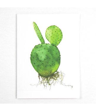 Cactus wenskaart met envelop – Opuntia