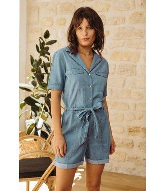 La P'tite Etoile Playsuit Jeans - LOGAN