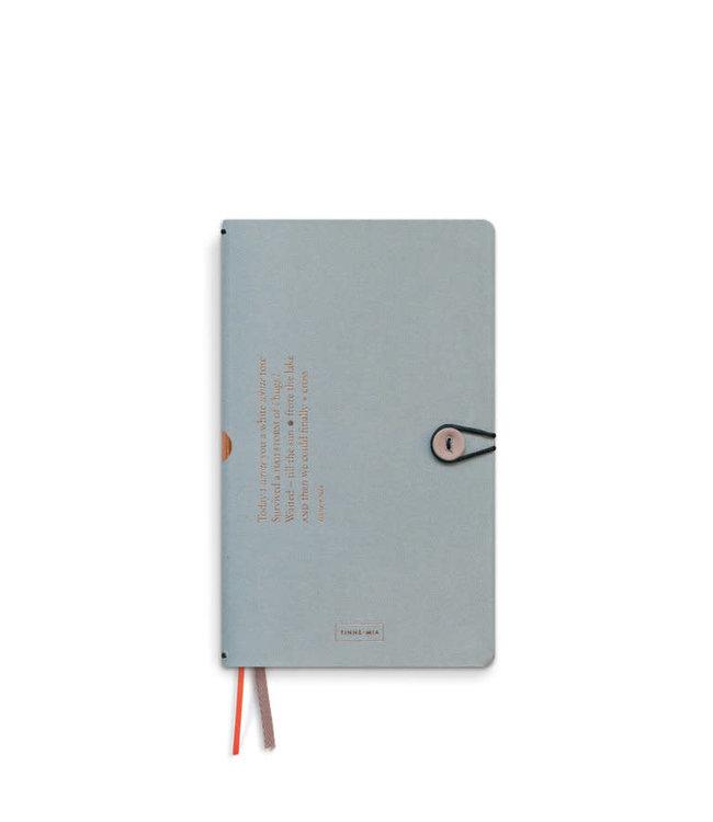 Notebook 13x21 button, linen, Cloud