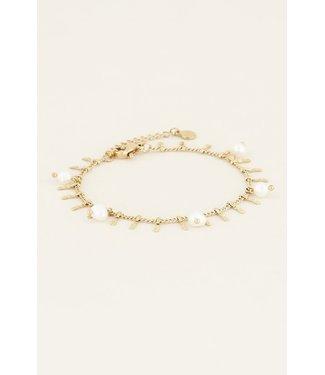 My Jewellery Armbandje staafjes & parels
