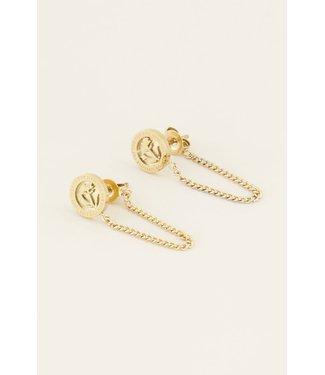 My Jewellery Oorhangers bloem & kettinkje