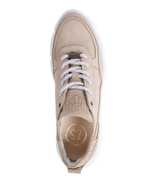 Zusss Gave Lederen Sneaker - Zand