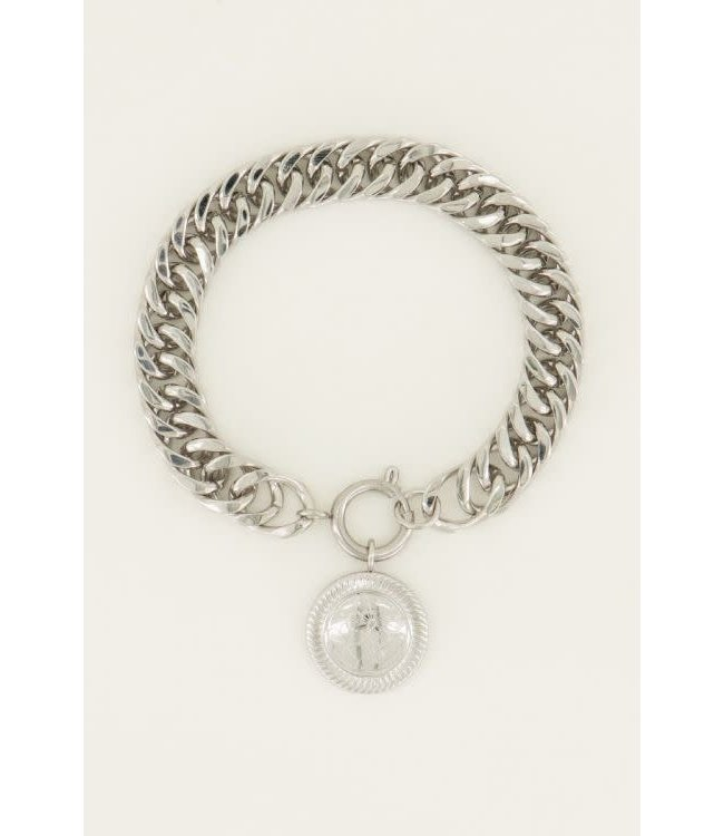 Schakelarmband lucky coin -  MJ044641500