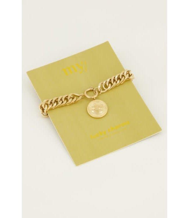 Schakelarmband lucky coin -  MJ044641200
