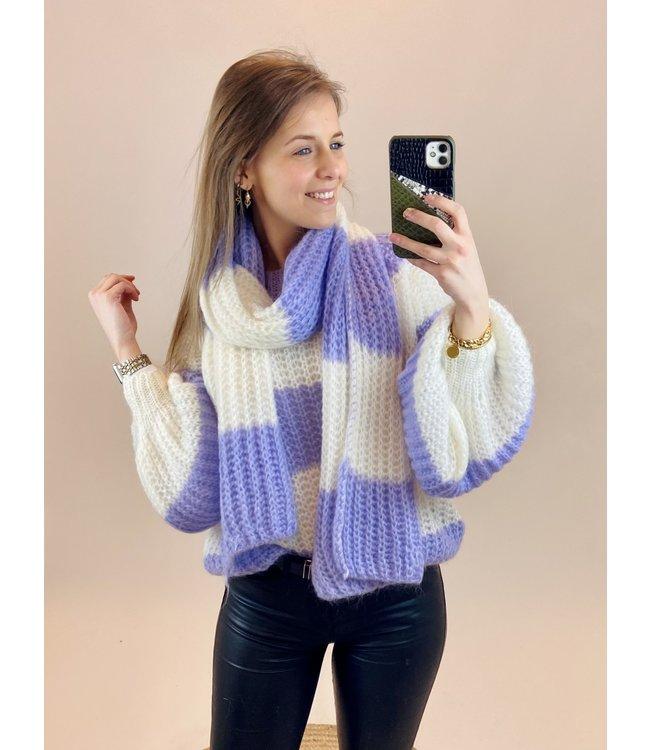 Trui met sjaal - Babette