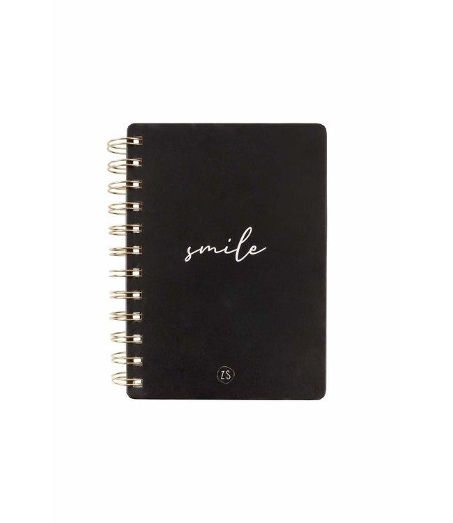 Zusss - Notitieboekje Smile Zwart