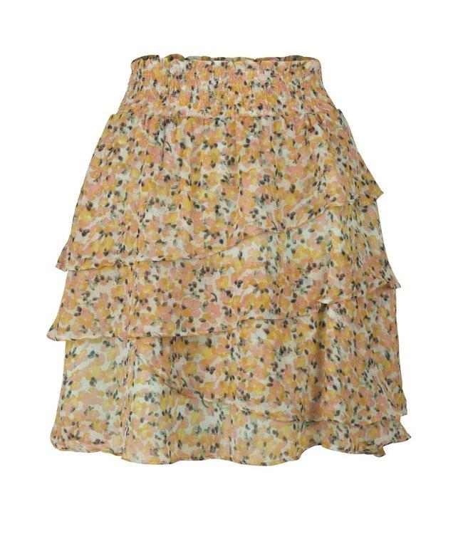 Skirt ruffle bouquet print - SP21.15014