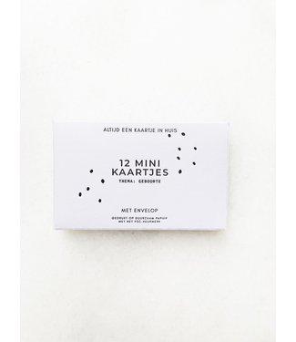 JIP JIP. - Doosje met 12 minikaartjes en envelop -  Geboorte