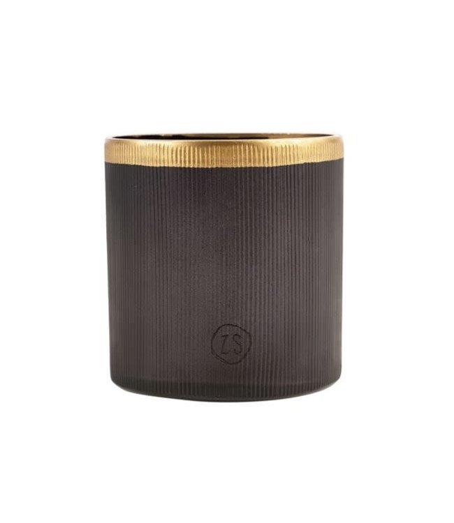 Zusss - Waxinelichthouder Glas Zwart