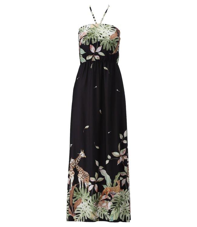 K Design - Maxi jurk met bandje & print - S820