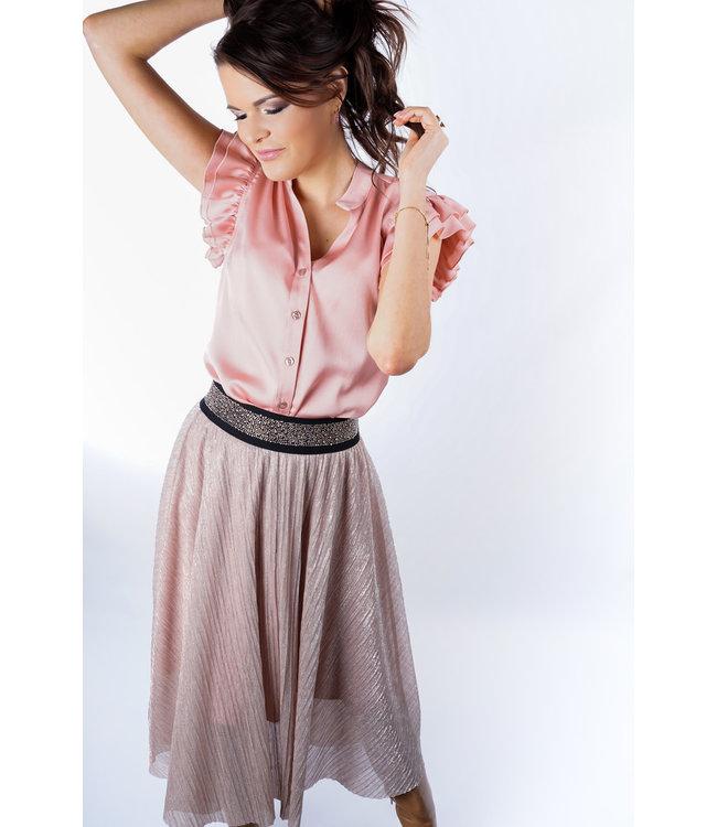 Yentl Lange rok Y-104 - Pink Gold