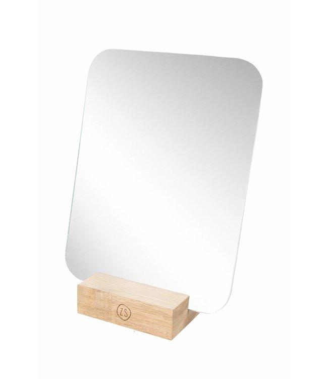 Zusss - Spiegel Op Houten Voet 18X23Cm
