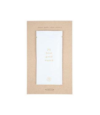 Zusss - Maskertje Moederdag Jij Bent Goud Waard Japans Water Wit