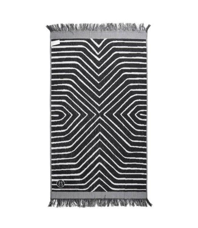 Zusss - badhanddoek grafisch patroon 60x115cm