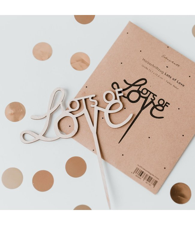 Cake Topper - Lots of Love