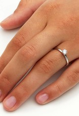 Verlobungsring Classic  Weißgold