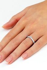 Verlobungsring Modern Weißgold